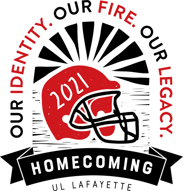 2021 Homecoming Logo: Our Identity. Our Fire. Our Legacy.