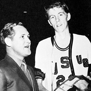 Jerry Flake as a basketball player at USL